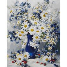 Картина-раскраска по номерам «Любимые цветы» 40*50 см