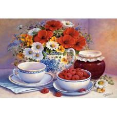 Картина-раскраска по номерам «Малиновое варенье» 40*50 см