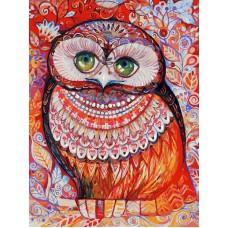 Картина-раскраска по номерам «Медовая сова» 30*40 см