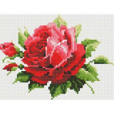 Алмазная мозаика «Мерцающая роза» 15*20 см