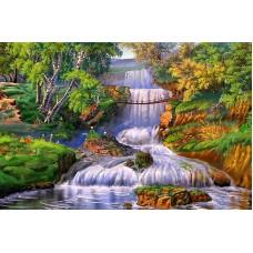 Картина-раскраска по номерам «Мост над водопадом» 40*50 см