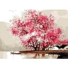 Картина-раскраска по номерам «На озере» 40*50 см