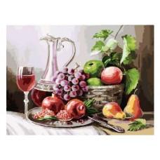 Картина-раскраска по номерам «Натюрморт с фруктами» 30*40 см