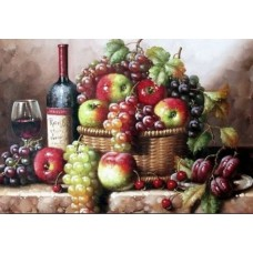 Картина-раскраска по номерам «Натюрморт с вином» 40*50 см
