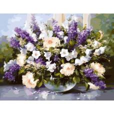 Картина-раскраска по номерам «Нежная композиция» 40*50 см