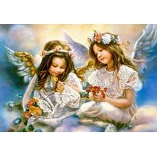 Картина-раскраска по номерам «Подарок от ангела» 40*50 см