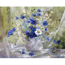 Картина-раскраска по номерам «Полевые цветы» 40*50 см
