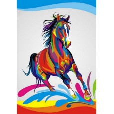 Картина-раскраска по номерам «Радужный конь» 30*40 см