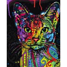 Картина-раскраска по номерам «Радужный кот» 40*50 см