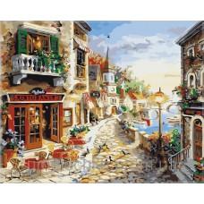 Картина-раскраска по номерам «Райский уголок Европы» 40*50 см