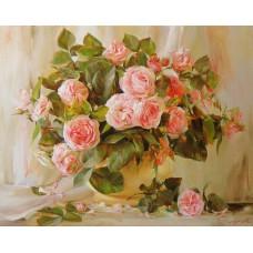Картина-раскраска по номерам «Розы» 40*50 см