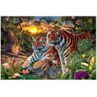 Семья амурских тигров