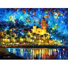 Картина-раскраска по номерам «Ситжес, Испания» 40*50 см