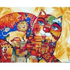 Картина-раскраска по номерам «Сказочный кот» 40*50 см