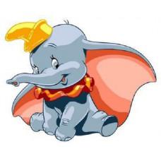 Картина-раскраска по номерам «Слоненок Дамбо» 20*30 см
