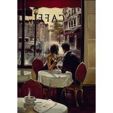 Картина-раскраска по номерам «Свидание в кафе» 40*50 см