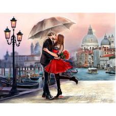 Картина-раскраска по номерам «Свидание в Венеции» 40*50 см