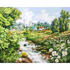 Картина-раскраска по номерам «Там где поют соловьи» 40*50 см