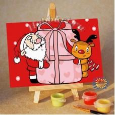 Картина-раскраска по номерам «Твой подарок» 10*15 см