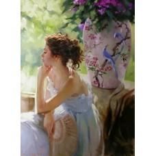 Картина-раскраска по номерам «Задумчивость» 40*50 см