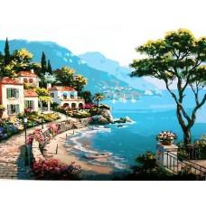 Картина-раскраска по номерам «Живописная бухта» 40*50 см