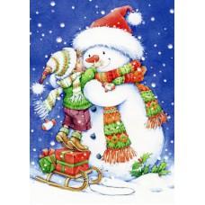 Алмазная мозаика «Зимние развлечения» 27*38 см