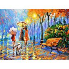 Картина-раскраска по номерам «Золотая осень» 40*50 см