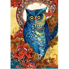 Картина-раскраска по номерам «Абстрактная сова» 40*50 см