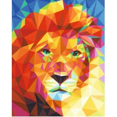 Картина-раскраска по номерам «Абстрактный лев» 40*50 см