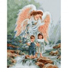 Картина-раскраска по номерам «Ангел-хранитель» 40*50 см