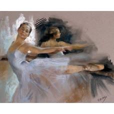 Картина-раскраска по номерам «Балерина» 40*50 см
