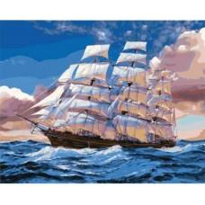 Картина-раскраска по номерам «Бригантина» 40*50 см