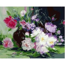 Картина-раскраска по номерам «Букет в вазе» 40*50 см