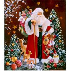 Картина-раскраска по номерам «Дед Мороз» 40*50 см