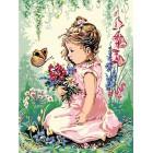 Девочка на весенней опушке