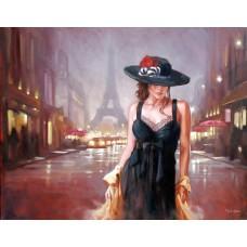 Алмазная мозаика «Девушка в шляпе» 30*40 см