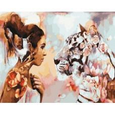 Картина-раскраска по номерам «Душа тигрицы» 40*50 см