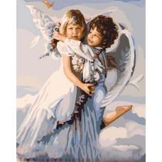 Картина-раскраска по номерам «Два ангела» 40*50 см