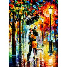 Картина-раскраска по номерам «Двое под зонтом» 40*50 см