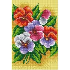 Алмазная мозаика «Фиалки трехцветные» 20*30 см
