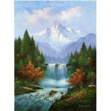 Картина-раскраска по номерам «Горный водопад» 40*50 см
