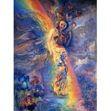 Картина-раскраска по номерам «Идущая по радуге» 40*50 см