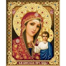 Алмазная мозаика «Казанская икона Божией Матери» 30*40 см