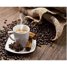 Картина-раскраска по номерам «Кофе с корицей» 40*50 см
