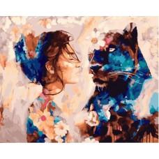 Картина-раскраска по номерам «Красота и грация» 40*50 см