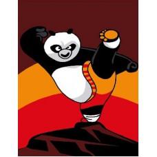 Картина-раскраска по номерам «Кунг-фу панда» 20*30 см