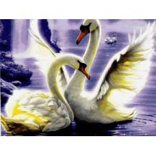 Алмазная мозаика «Лебединая любовь» 40*50 см