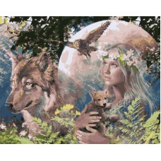 Картина-раскраска по номерам «Лесная фея» 40*50 см