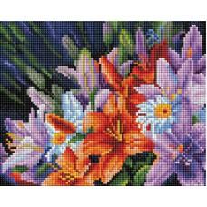 Алмазная мозаика «Лилии из сада» 20*25 см