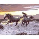 Лошади на берегу моря